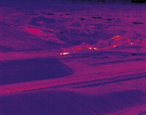 Тепловизоры снижают пожароопасность при хранении штабелей угля-Nastup-Mines-coal-pile_IR2-300x236