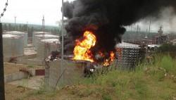 Возгорание резервуара с нефтью в Иркутской области локализовано-wpid-957591992